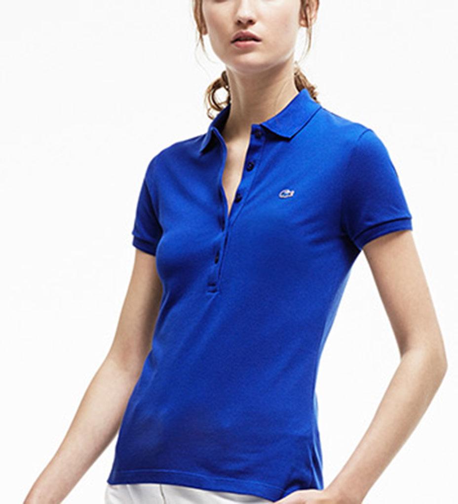 Lacoste short sleeve 5 button stretch pique polo pf6949 51 for Short sleeve lacoste shirt