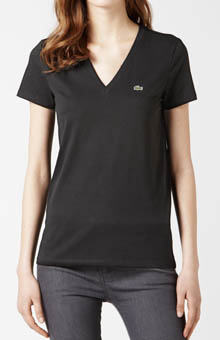 Lacoste Short Sleeve Jersey V-Neck T-Shirt