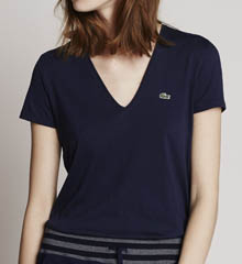 Lacoste Short Sleeve Jersey V-Neck T-Shirt TF5725-51