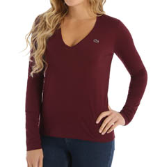 Lacoste Long Sleeve Jersey V-Neck T-Shirt TF5727-51