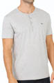 Short Sleeve Pima Cotton Henley T-Shirt Image