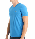 100% Pima Cotton V-Neck Short Sleeve T-Shirt