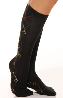 Equestrian Pattern Knee High Sock