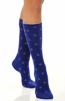 Nautical Pattern Trouser Sock