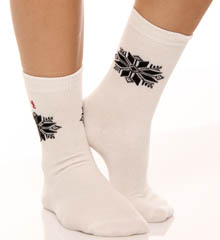 Snowflake Poly Blend Trouser 2 Pack Socks