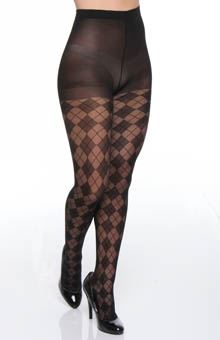 Sheer Argyle Tight