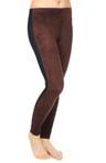 Micro Suede Front Denim Legging Image