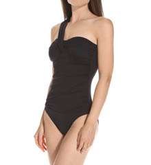Lauren Ralph Lauren Swimwear Laguna Solids Asymmetrical One Piece Swimsuit LR5F110