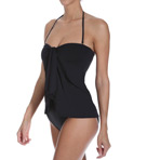 Lauren Ralph Lauren Swimwear Laguna Solids Flyaway Strapless One Piece Swimsuit LR5F111