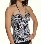 Deauville Paisley V-Neck Bandini Slimming Swim Top Image
