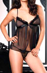 Leg Avenue Sheer Babydoll with G-String Two-Piece Set 81289