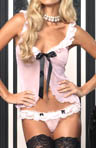 2pc Mesh Babydoll and Matching Thong Set