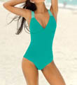 Solid Convertible Tummy Control One Piece Swimsuit Image