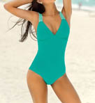 Leonisa Solid Convertible Tummy Control One Piece Swimsuit 190604