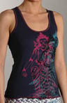 Slub Cotton Racerback Tank with Lace