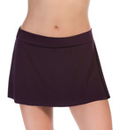 Solid Jersey Pull On Tennis Skirt Swim Bottom