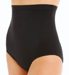 Solid High Waist Brief Swim Bottom Image