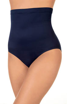 Solid High Waist Brief Swim Bottom