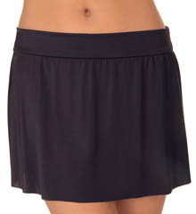 Solid Pull On Skirt Swim Bottom