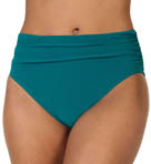 Solid Jersey Swim Bottom With Shirring
