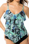MagicSuit Come Slither Rita All Over Tiered Tankini Swim Top 464744