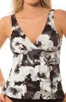 MagicSuit Tribal Floral Corynne Tiered Tankini Swim Top 465147