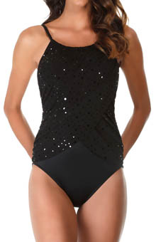 MagicSuit Stardust Lisa Draped Jersey One Piece Swimsuit 475355