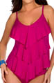 Solid Jersey Rita All Over Tiered Tankini Swim Top Image