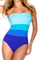 MagicSuit Multi Color Tiered Jersey Bandeau Swimsuit 475651