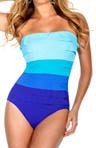 Multi Color Tiered Jersey Bandeau Swimsuit Image