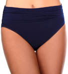 Jersey Brief with Shirring Swim Bottom