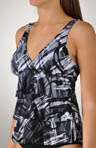 Modern Art Corynne Tiered Waist Tankini Swim Top