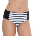 Maidenform Beach Mesh Stripe Hi-Waist Swim Bottom 416B392