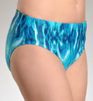 Maidenform Beach Native Batik Hi Waist Pant Swim Bottom 6207352