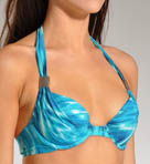 Maidenform Beach Native Batik Custom-Lift Halter Swim Top 6207395