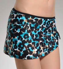 So Haute Side Shirred Hipster Swim Skirt