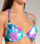 Maidenform Beach Tropical Forest Custom-Lift Halter Swim Top 6211395