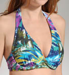 Maidenform Beach Desert Jewel Lift & Support Halter Swim Top 6214390