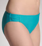 Solids Shirred-Side Hipster Swim Bottom