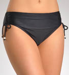 Solid Hi-Waist Side Adjustable Swim Bottom