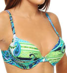 Maidenform Beach Drive Me Paisley Ultimate Push Up Swim Top 6302106