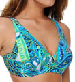 Maidenform Beach Drive Me Paisley Lift Support Underwire Swim Top 6302110