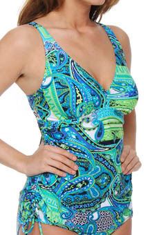 Drive Me Paisley Lift Underwire Tankini Swim Top