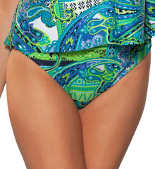Maidenform Beach Drive Me Paisley Hi Waist Swim Bottom