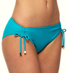 Poolside Solids Shirr Hipster Swim Bottom