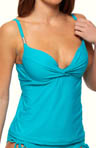 Maidenform Beach Poolside Solids Custom Lift Tankini Swim Top 6303340
