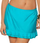 Poolside Solids Double Ruffle Skirtini Swim Bottom