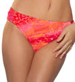 Maidenform Beach Second Skin Shirr Hipster Swim Bottom 6306278
