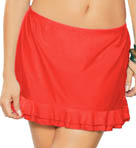 Maidenform Beach Summer Solids Double Ruffle Skirtini Swim Bottom 6307581