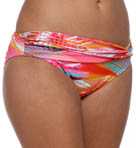 In a Flash Twist Front Hipster Swim Bottom